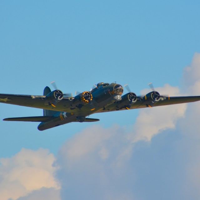 """Boeing B-17 ""sally B"""" stock image"