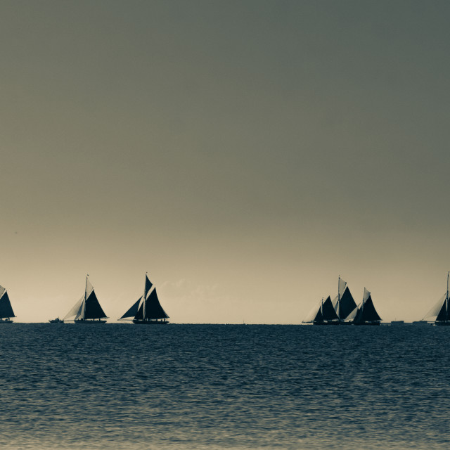 """Sails on the Horizon"" stock image"
