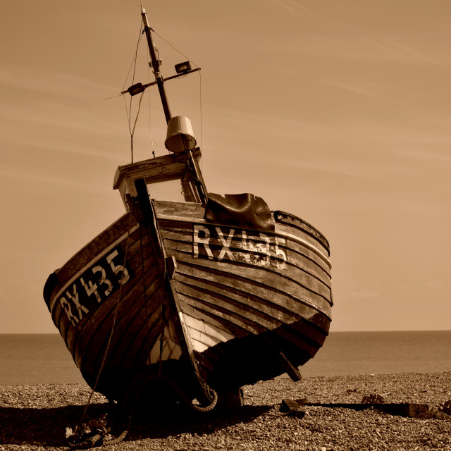 """A fishing boat"" stock image"