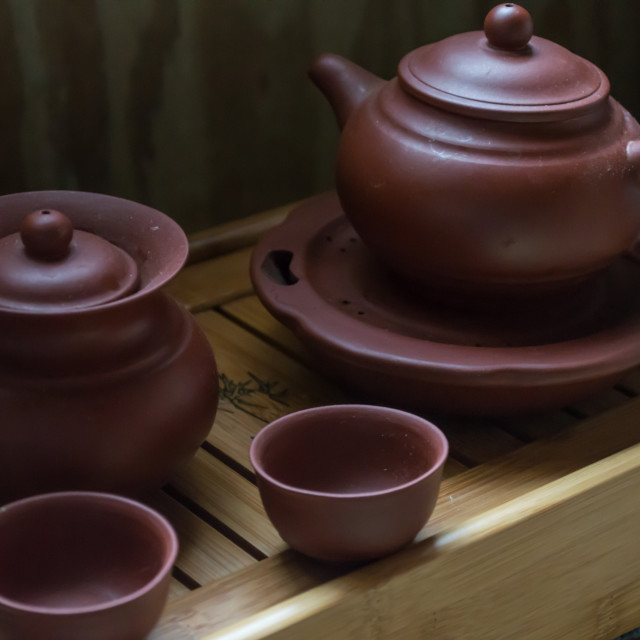 """Dusty teapots"" stock image"