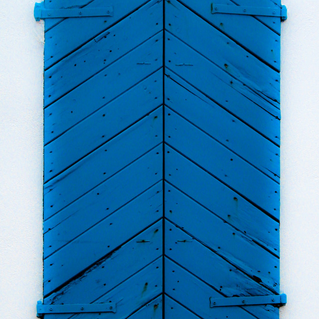 """Blue shutters - Crete"" stock image"