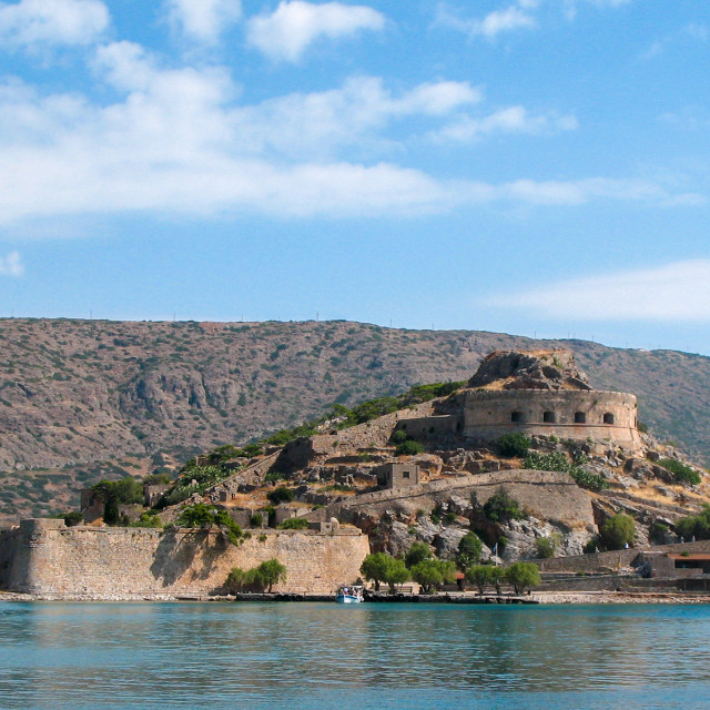 """""""Spinalonga - Leper Island"""" stock image"""
