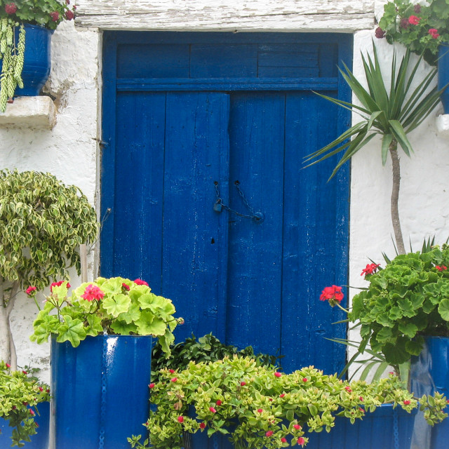 """Typical Cretan doorway"" stock image"