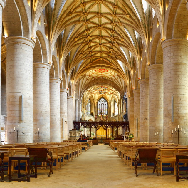"""Tewkesbury Abbey"" stock image"