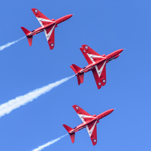 """Red Arrows Head to Head"" stock image"