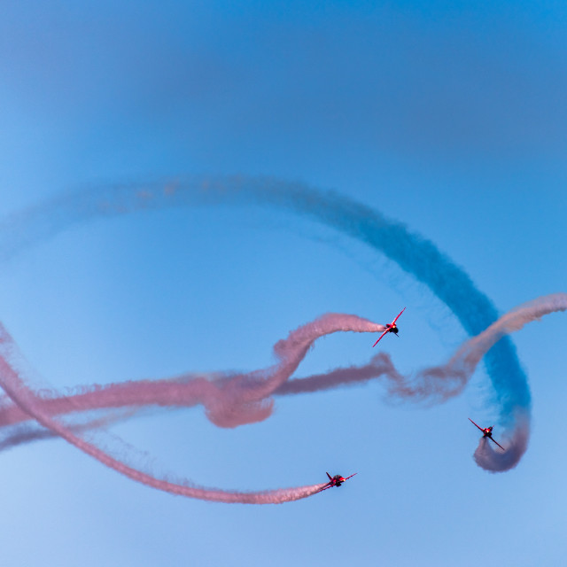 """Red Arrows - Jigging"" stock image"