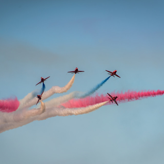 """Red Arrows Air Display Team"" stock image"