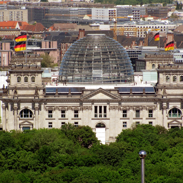 """""""Reichstag Frontal"""" stock image"""