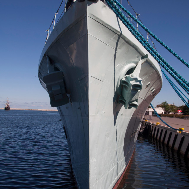 """""""Nose of a destroyer"""" stock image"""