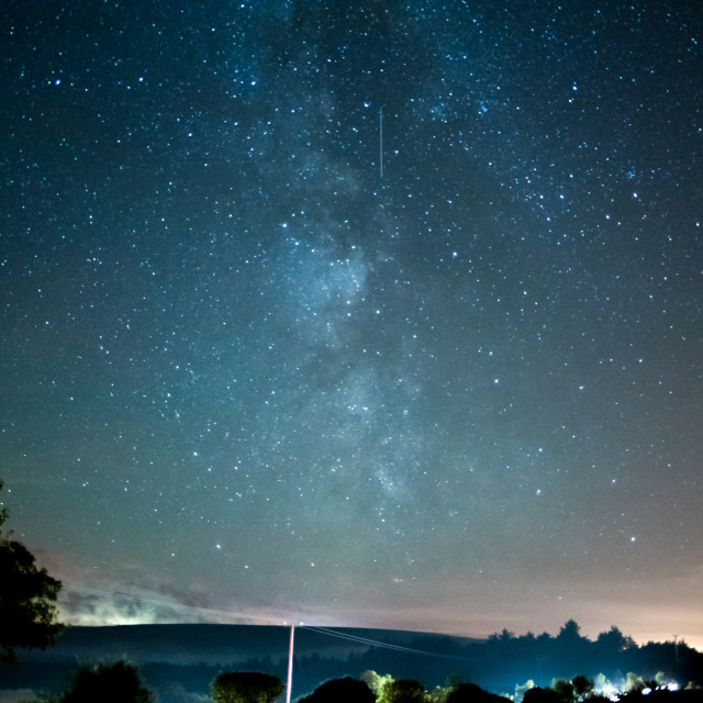 """""""Milky way with shooting star"""" stock image"""