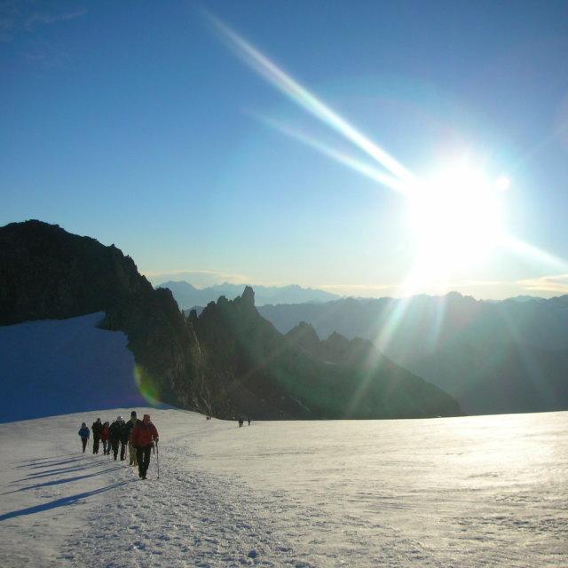 """""""Sunrise Mountain"""" stock image"""