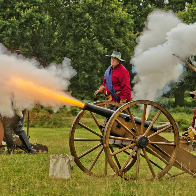 """Firing The Cannon"" stock image"