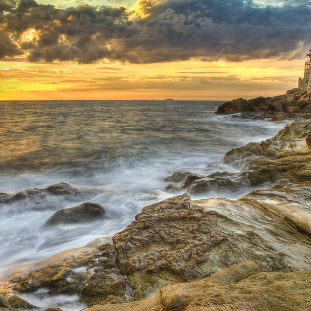 """Castle of the mug, mug flat rocks, Etruscan Coast Livorno Tuscany Italy 2"" stock image"