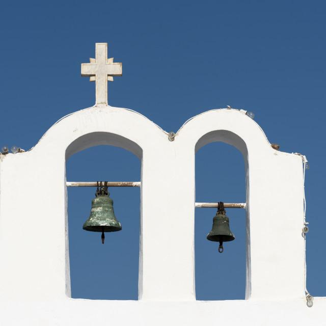 """Belfry, Oia, Santorini"" stock image"
