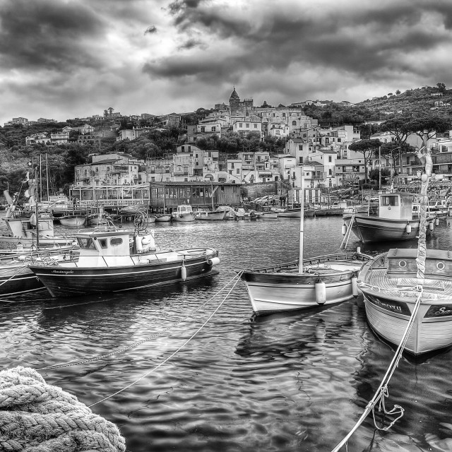 """Massa Lubrense, italian fishing village"" stock image"