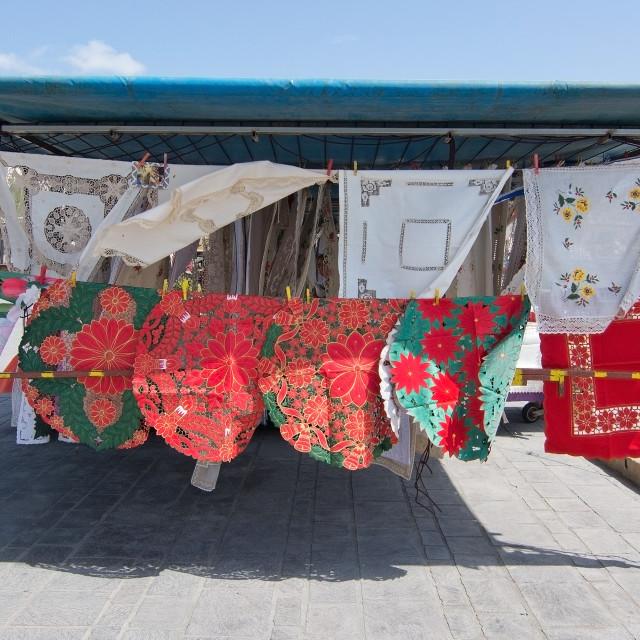 """Handicraft embroideries"" stock image"