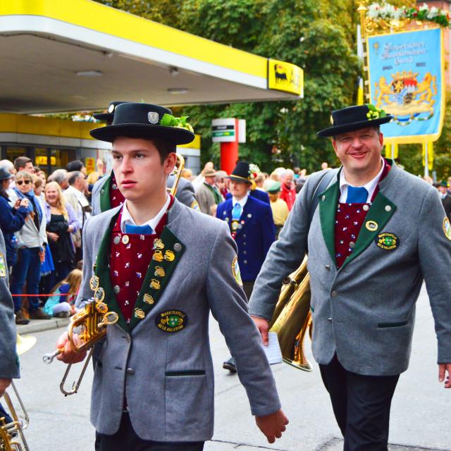 """Oktoberfest smile: Tuba man"" stock image"