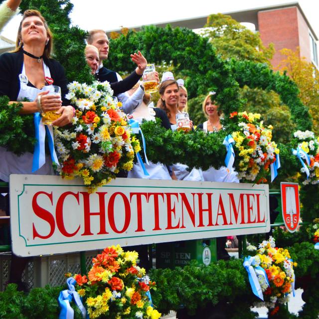 """Oktoberfest smile: Girls"" stock image"