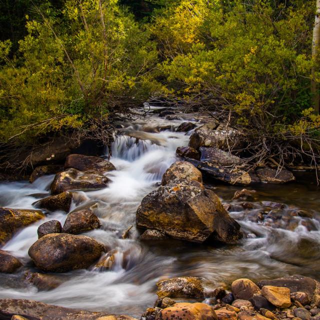 """""""Middle Boulder Creek"""" stock image"""