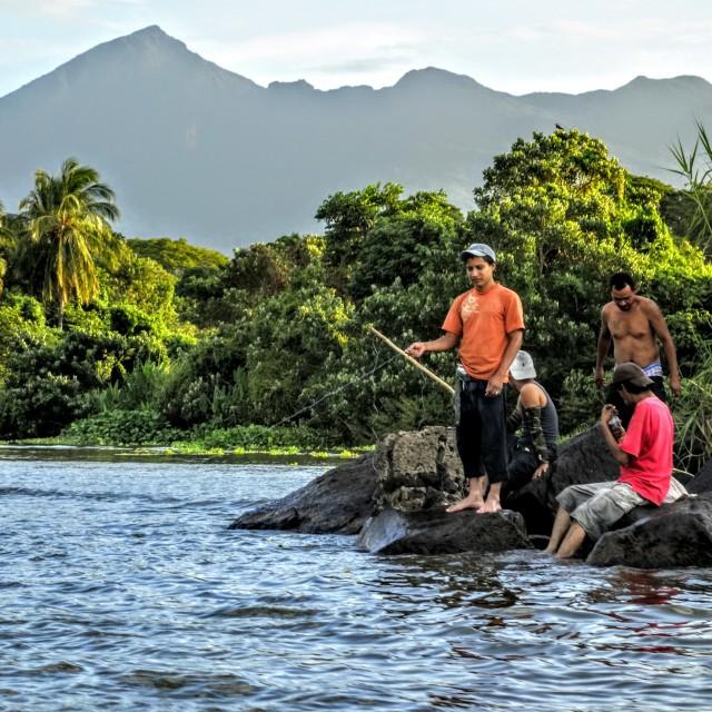 """Daily fishermen live in Granada, Nicaragua."" stock image"