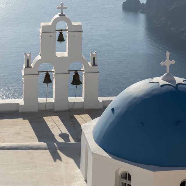 """Firostefani Church, Santorini, Greece"" stock image"
