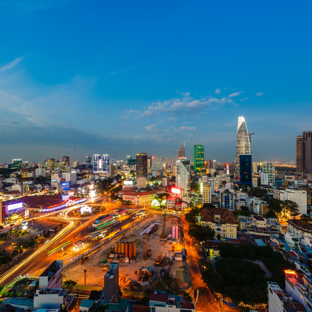 """""""Ben Thanh market at blue hour"""" stock image"""
