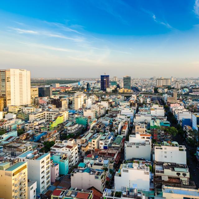 """""""Ho Chi Minh city skyline"""" stock image"""