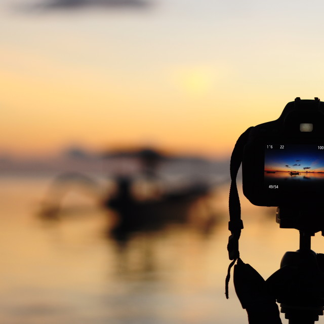 """view of sunrise from a camera"" stock image"