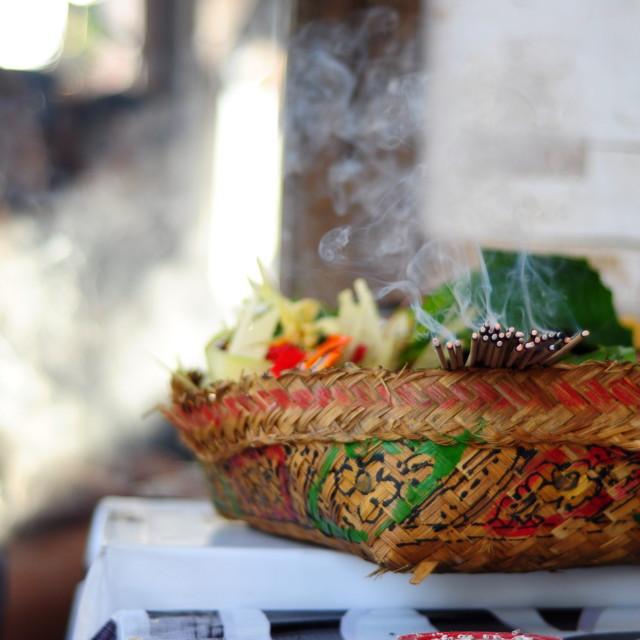 """smoke from burning incense"" stock image"