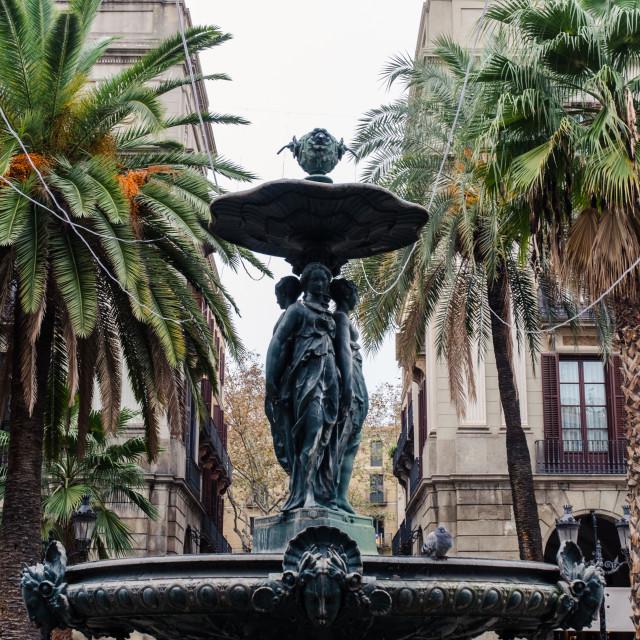 """""""Plaza Real Barcelona"""" stock image"""