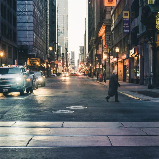 """Toronto Street"" stock image"