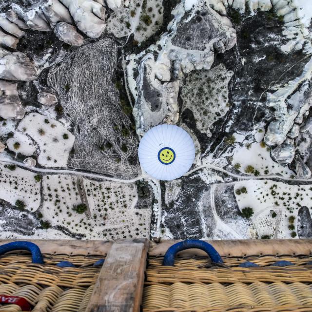 """""""Smile in Cappadocia"""" stock image"""