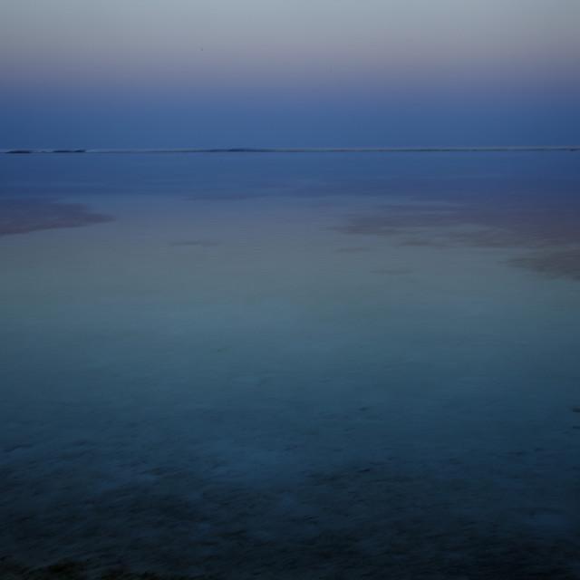 """Blue sea"" stock image"