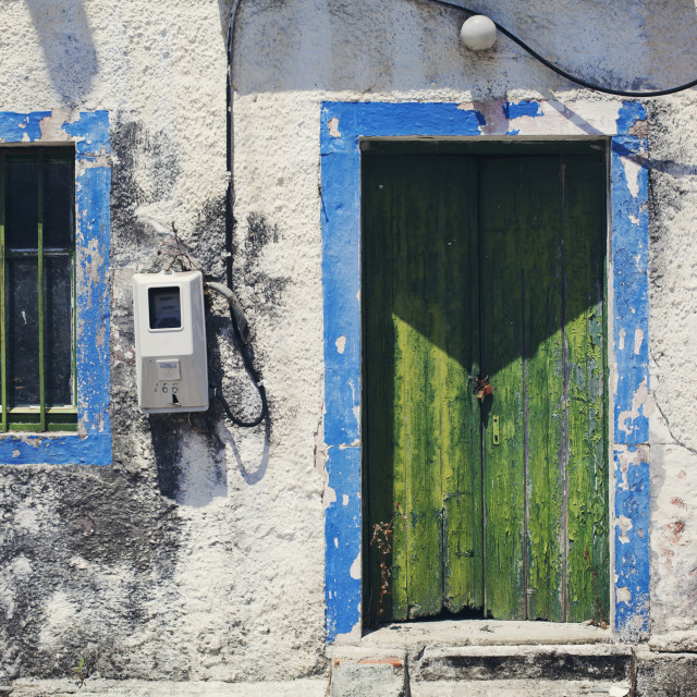 """Painted house"" stock image"