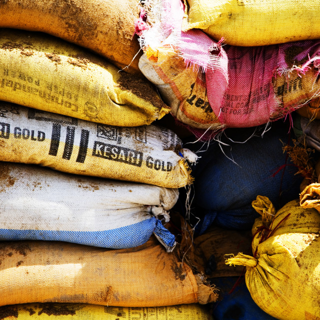 """Sandbags"" stock image"