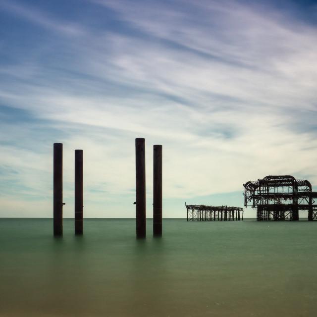 """The West Pier Brighton"" stock image"
