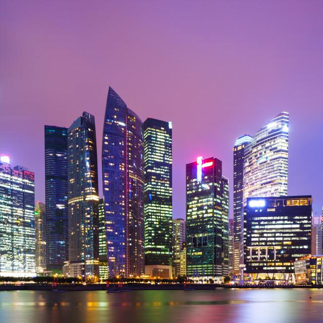 """Singapore at night"" stock image"