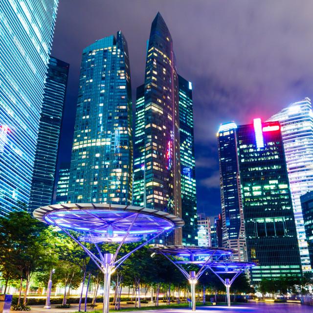 """Singapore corporate building"" stock image"