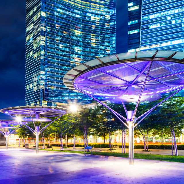 """Singapore office building"" stock image"