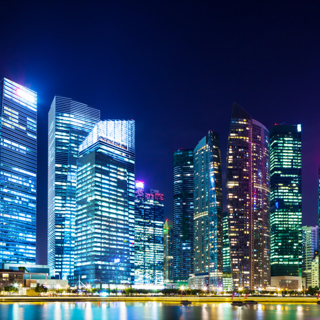 """""""Financial district in Singapore"""" stock image"""