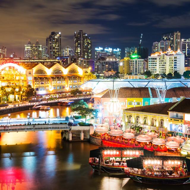 """""""Singapore night"""" stock image"""