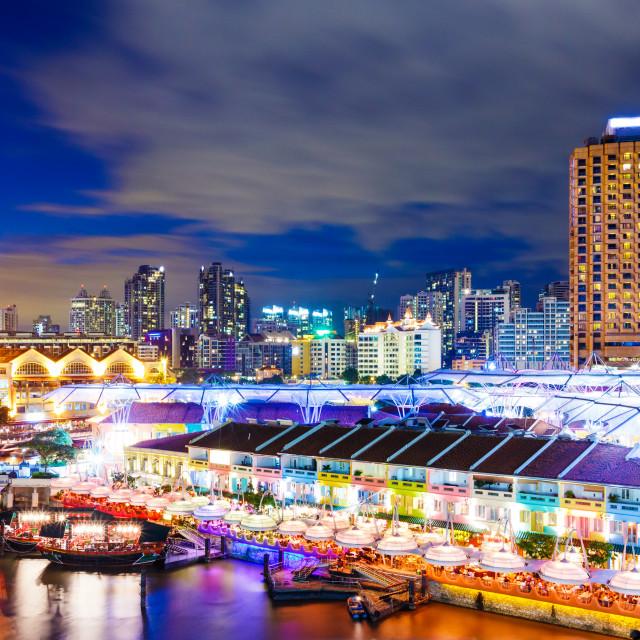 """""""Singapore night at night"""" stock image"""