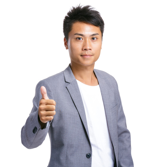 """""""Businessman with thumb up"""" stock image"""