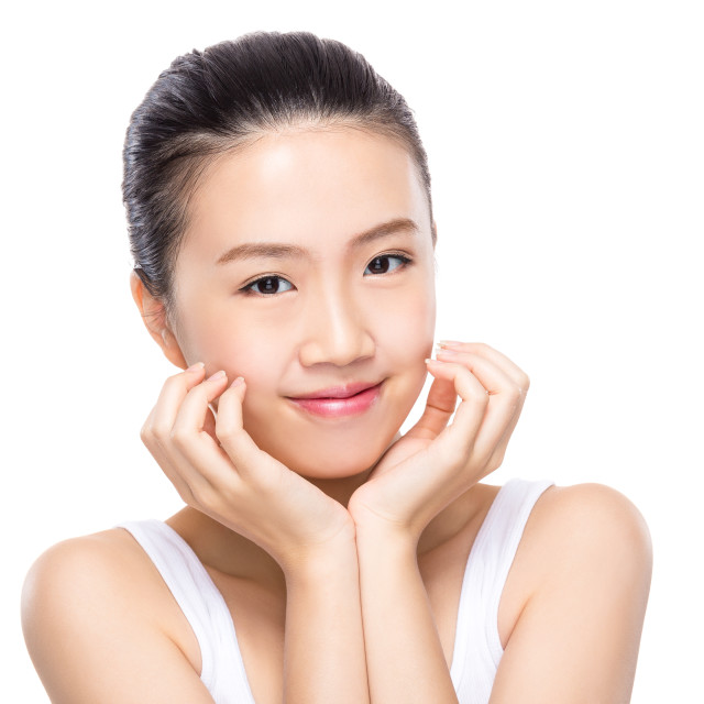 """""""Pretty woman with perfect skincare"""" stock image"""