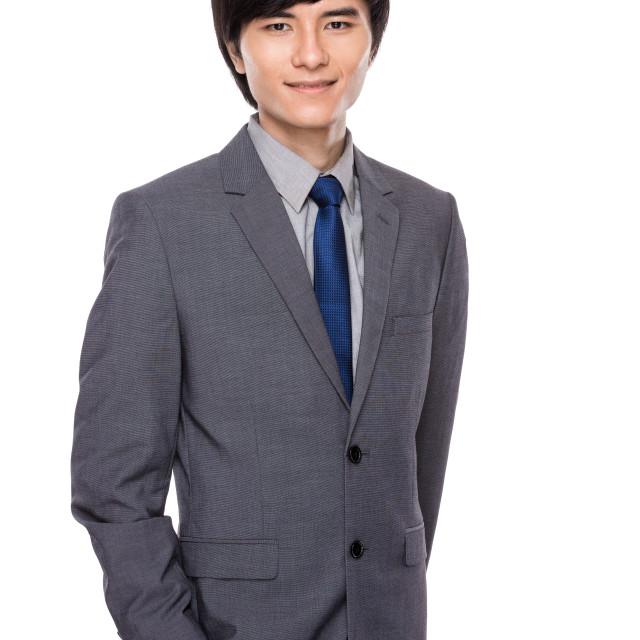 """""""Serious asian businessman"""" stock image"""