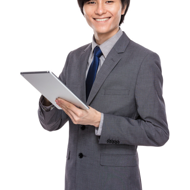 """""""Young businessman use digital tablet"""" stock image"""