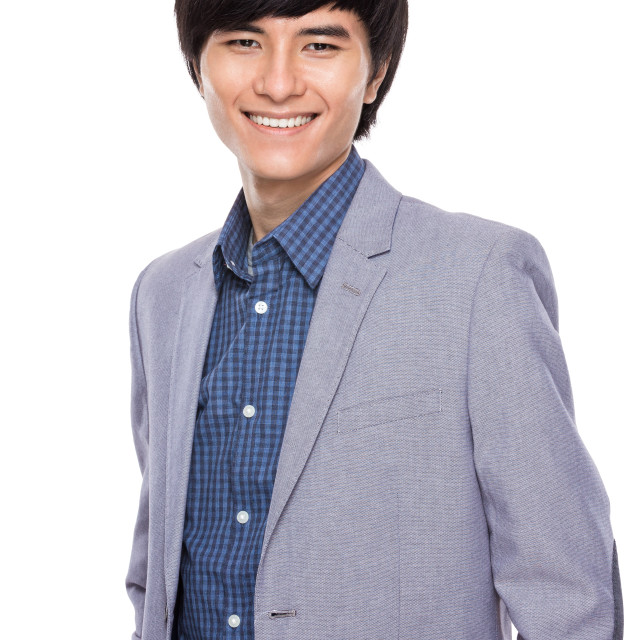 """""""Asian young businessman smile"""" stock image"""