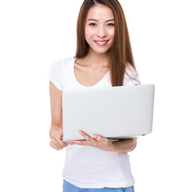 """Woman use computer"" stock image"