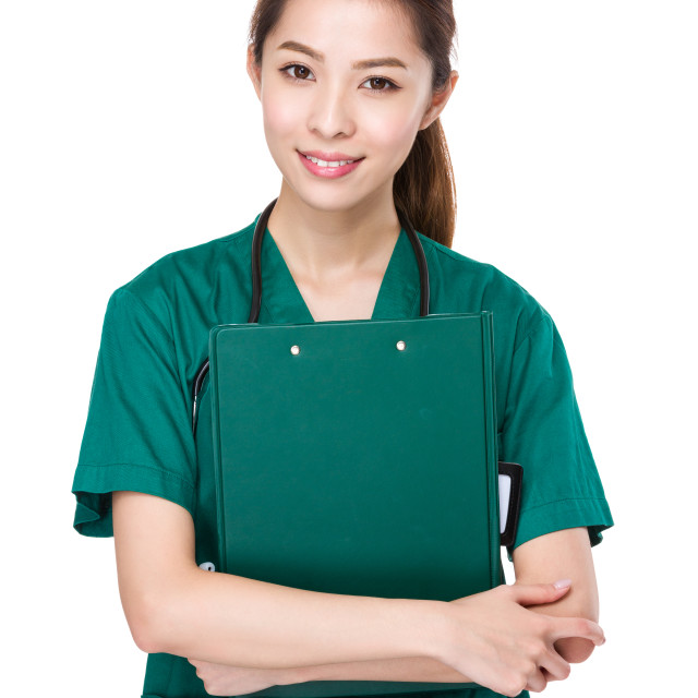 """""""Doctor with clipboard"""" stock image"""