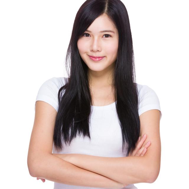 """""""Asian woman portrait"""" stock image"""